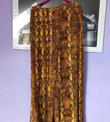 Zara senf žute zmija suknja hlače culotte M
