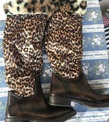 Gumene leopard čizme 38