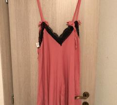 Roza tunika haljina