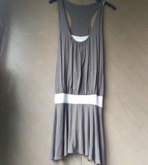 Sivo-smeđa haljina