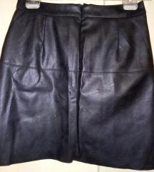 ZARA BASIC kožna suknja sa nitnama