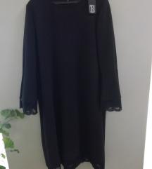 SADA 250 ! crna haljina s čipkom - novo s etiketom