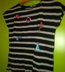 Crno - siva majica s mornarskim motivima
