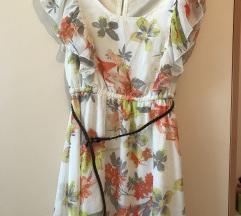 Cvjetna haljina sa remenom