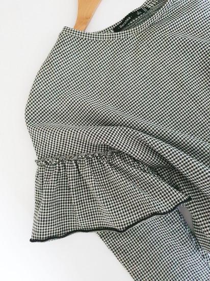 BERSHKA gingham haljina s volanima