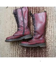 Dr. Martens visoke kožne crvene čizme vel. 38