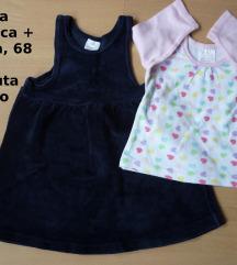 Plišana haljinica + majica, 3-6 mj. 6