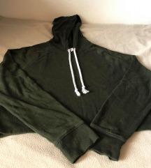 Tamno zelena hoodie