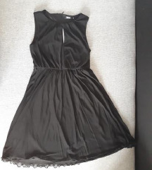 Crna midi haljina S
