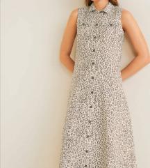 Mango leopard haljina