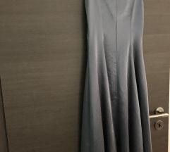 Duga svečana satenska haljina