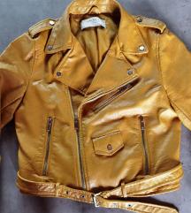 ZARA žuta kožna jakna pt ukljucena