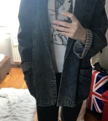 Jeans ženska oversized jakna s naramenicama