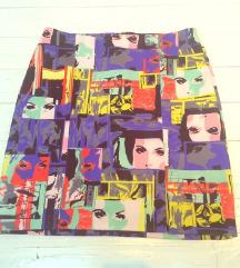 Suknja s pop-art uzorkom, nova