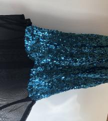 Plava haljina sa ljuskicama