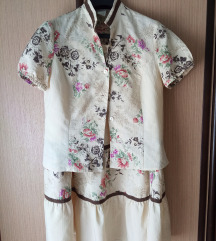 Komplet košulja-sako i suknja