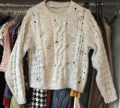 Zara sivi džemper