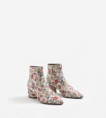 MANGO cvjetne tapestry čizme - NOVO