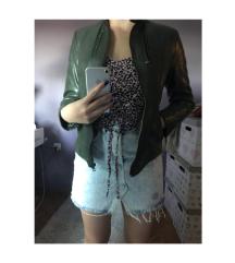 Kozna zelena jakna