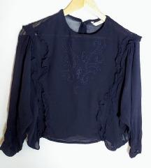 ZARA modra izvezena bluza 🎀