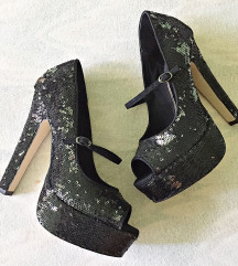 % Mary Jane sequin Asos crne cipele