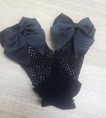 Mrežaste čarape / sokne sa mašnom