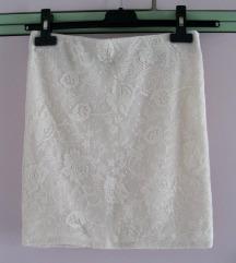 Bershka čipkasta mini suknja