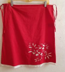 Crvena ljetna suknja etno 38 novo