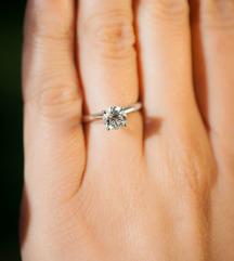 Bijelo zlato prsten 585
