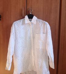 Zara čipkasta košulja veličina