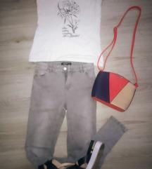 Lot odjeće hlače,majica, sandale, torbica