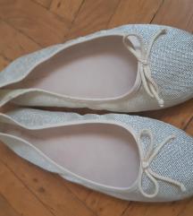Zara zlatne balerinke 38