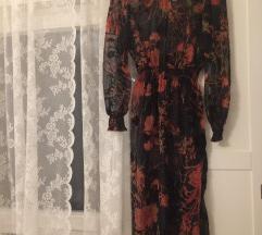 Zara svilena haljina s podstavom