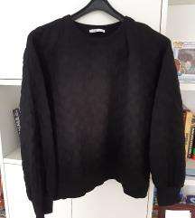Zara blogerska crna majica / sweatshirt