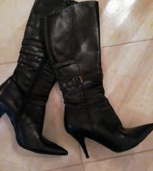 Crne čizme, visoke, 36