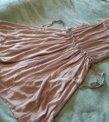 Bež/prljavo roza svečanija haljina, h&m