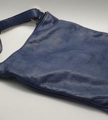 Kožna modra torba