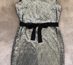 DKNY nova haljina svila+šljokice
