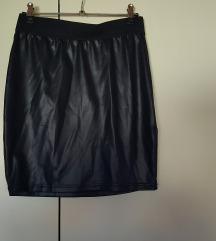 SADA 20 KN - Kratka kožna uska suknja