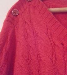 Narančasta pletena vesta
