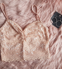 Nude/rozi top