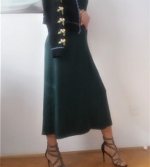H&M duga tamnozelena haljina