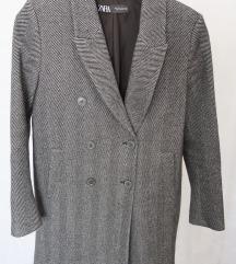 Novi sivi Zara kaput S
