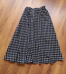 Tockasta midi suknja