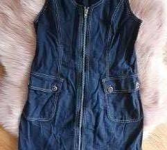 Presavršena mini traper haljina na zip!