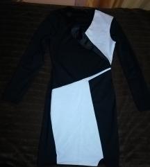 Haljina crno-bijela
