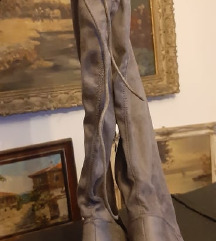 Čizme visoke antilop sive