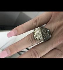 Srebrni prsten 925 ostecen