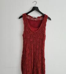 Zara pletena maxi haljina