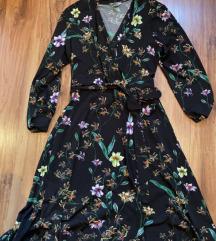 Cvjetna haljina na preklop